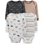 Baby Boy Carter's 4-Pack Animal Print Bodysuits