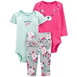 Baby Girl Carter's 3-Piece Bear Bodysuits & Pants Set