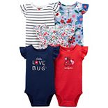 Baby Girl Carter's 5-pack Bodysuits