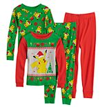 Boys 4-10 Pokemon Santa Pika Tops & Bottoms Pajama Set