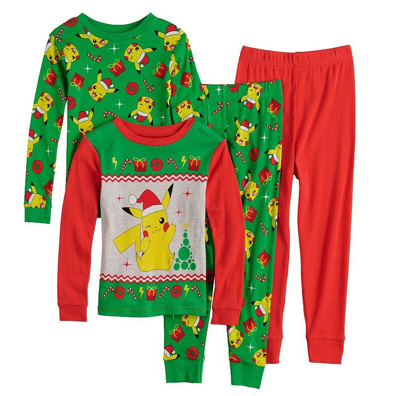 Boys 4-10 Pokemon Santa Pika Tops & Bottoms Pajama Set, Boy's