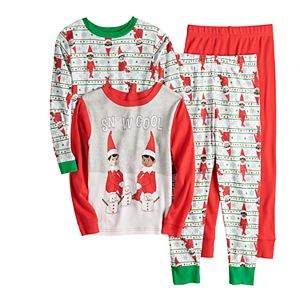 Boys 4-10 Elf On the Shelf Tops & Bottoms Pajama Set