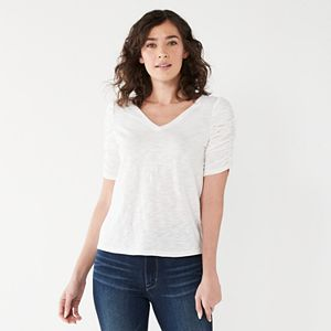 Women's Nine West V-Neck Puff-Sleeve Top