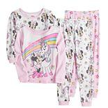 Disney's Minnie Mouse Toddler Girl 4 Piece Unicorn Dreams Pajama Set