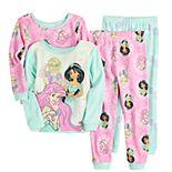 Disney Princess Toddler Girl 4 Piece Pajama Set
