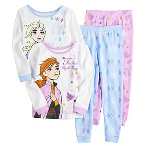 Disney's Frozen 2 Toddler Girl 4 Piece Lovely Sisters Pajama Set