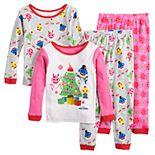 Toddler Girl Baby Shark Christmas Tops & Bottoms Pajama Set