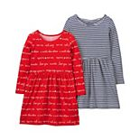Toddler Girl Carter's 2-Pack Jersey Dresses
