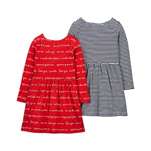 Toddler Girl Carter's 2-Pack Jersey Dresses