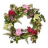 National Tree Company Artificial Hydrangea Flowers Wreath