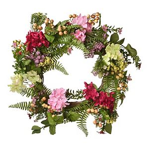 National Tree Company Artificial Hydrangea Flowers Wreath