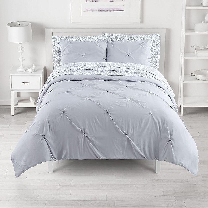 The Big One? Reversible Bedding Set, Grey, Queen