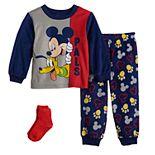 Disney's Mickey Mouse Toddler Boy 2 Piece Pajama Set with Socks