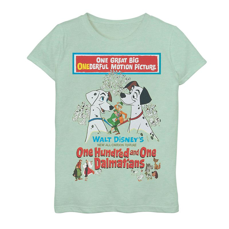 Disney's 101 Dalmatians Girls 7-16 Movie Promotion Graphic Tee, Girl's, Size: XL, Green