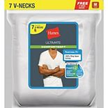 Men's Hanes Ultimate® ComfortSoft 6-pack + 1 Bonus V-Neck Tees