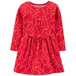 Toddler Girl Carter's Heart Printed Dress