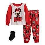 Disney's Minnie Mouse Love 2 Toddler Girl 2 Piece Fleece Set With Socks