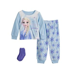 Disney's Frozen 2 Elsa Believe Toddler Girl Fleece Pajama Set With Socks