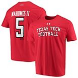 Men's Under Armour Patrick Mahomes Red Texas Tech Red Raiders Alumni Football Name & Number Performance T-Shirt
