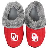 Women's Oklahoma Sooners Cable Knit Slide Slippers