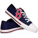 Men's Boston Red Sox Low Top Big Logo Canvas Shoes