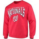 Men's Stitches Red Washington Nationals Pullover Crew Sweatshirt