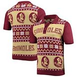 Men's Gold Florida State Seminoles College Ugly Knit Polo