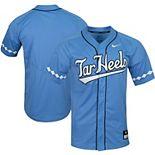 Men's Nike Carolina Blue North Carolina Tar Heels Vapor Untouchable Elite Replica Full-Button Baseball Jersey