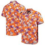 Men's Orange Clemson Tigers College Floral Button-Up Shirt