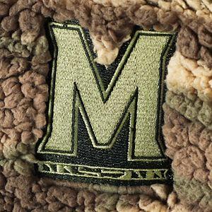Women's Camo Maryland Terrapins OHT Military Appreciation Sherpa Quarter-Zip Pullover Jacket