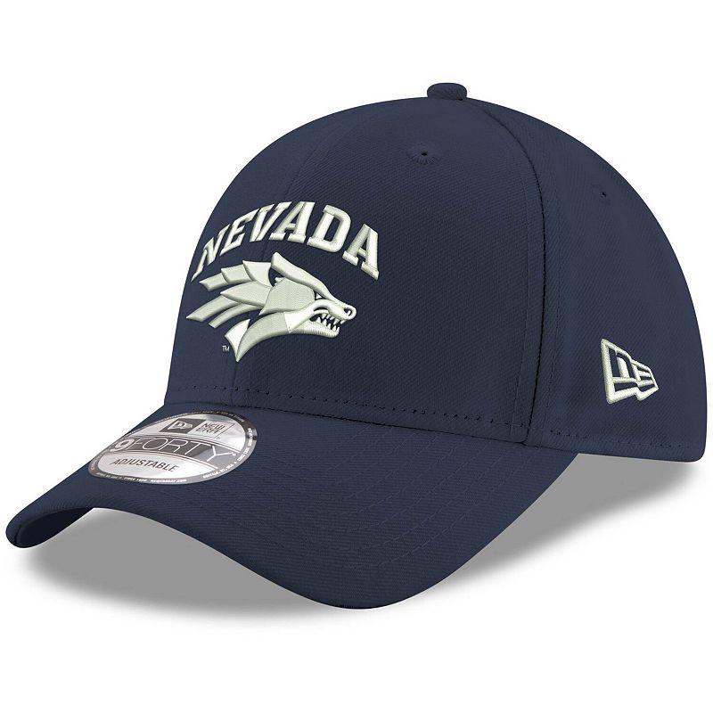 Men's New Era Navy Nevada Wolf Pack Hyper 9FORTY Adjustable Hat, Blue