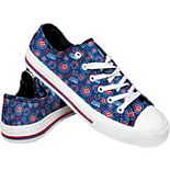Women's Chicago Cubs Low Top Repeat Print Canvas Shoes