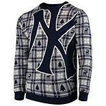Men's Navy New York Yankees Big Logo Pullover Sweater