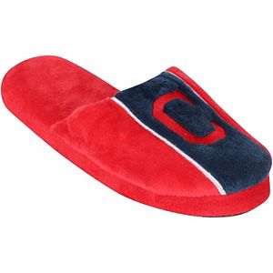 Youth Cleveland Indians Big Logo Stripe Slippers