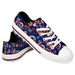Women's New York Mets Low Top Repeat Print Canvas Shoes