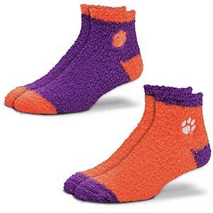 Women's For Bare Feet Clemson Tigers 2-Pack Sleep Soft Socks