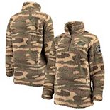 Women's Camo Florida Gators OHT Military Appreciation Sherpa Quarter-Zip Pullover Jacket
