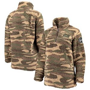 Women's Camo Florida Gators OHT Military Appreciation Sherpa Quarter-Zip Pullover Jacket