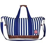 Women's Chicago Cubs Striped Weekender Bag