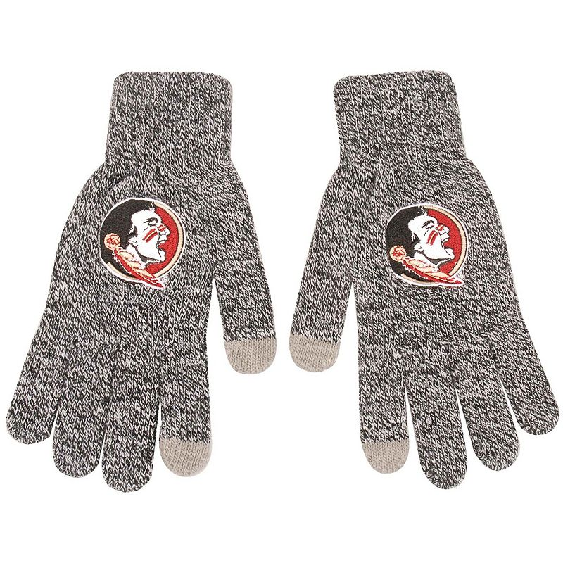 Men's Gray Florida State Seminoles Knit Gloves