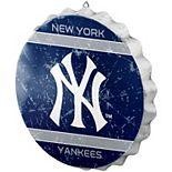 New York Yankees Distressed Logo Bottle Cap Sign