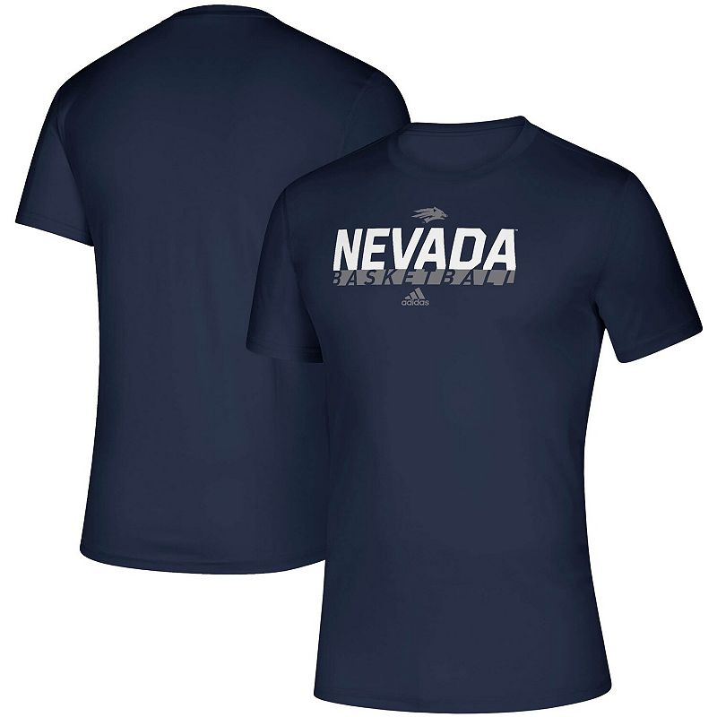 Men's adidas Navy Nevada Wolf Pack On Court Basketball climalite Creator T-Shirt, Size: Medium, Blue