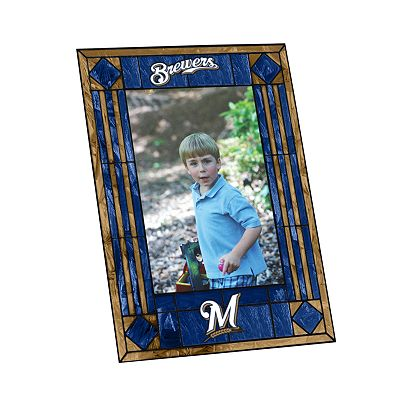 Milwaukee Brewers Art Glass Picture Frame