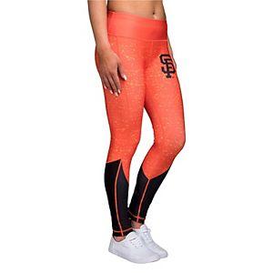Women's Orange San Francisco Giants Color Block Mesh Leggings