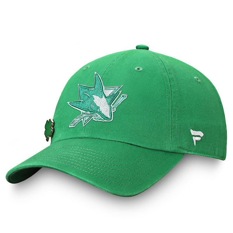 Men's Fanatics Branded Kelly Green San Jose Sharks St. Patrick's Day Adjustable Hat
