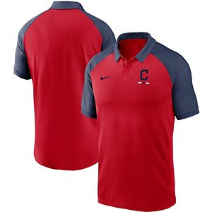 Men's Nike Red Cleveland Indians Legacy Tri-Blend Raglan Performance Polo