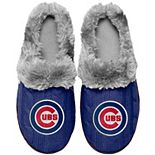 Women's Chicago Cubs Cable Knit Slide Slippers