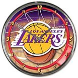 WinCraft Los Angeles Lakers Chrome Wall Clock