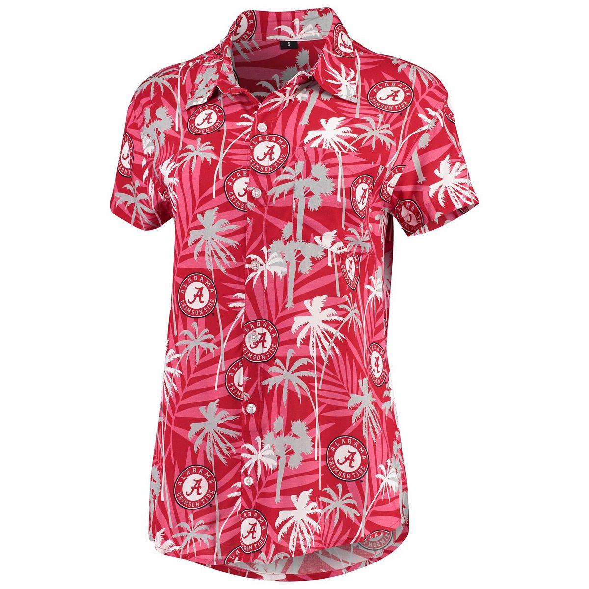 Women's Crimson Alabama Crimson Tide Floral Harmonic Button-Up Shirt nhfUH