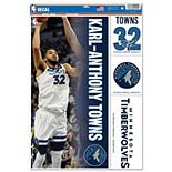 "WinCraft Karl-Anthony Towns Minnesota Timberwolves 11"" x 17"" Multi-Use Player Decal Sheet"